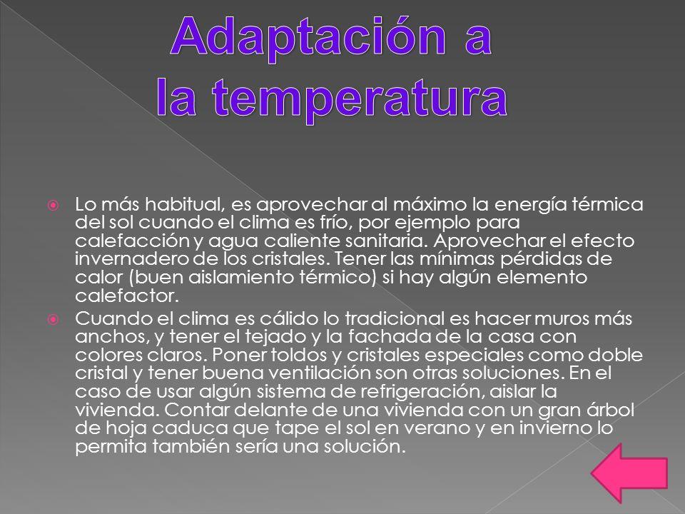 Adaptación a la temperatura