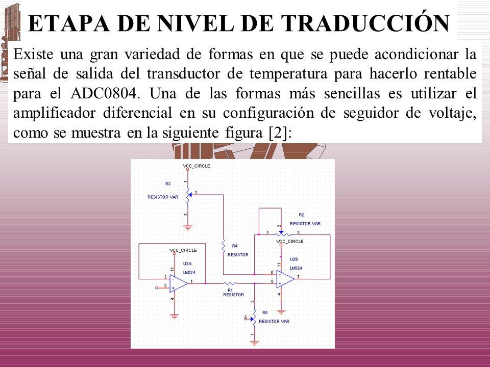 ETAPA DE NIVEL DE TRADUCCIÓN