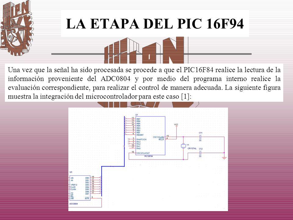 LA ETAPA DEL PIC 16F94
