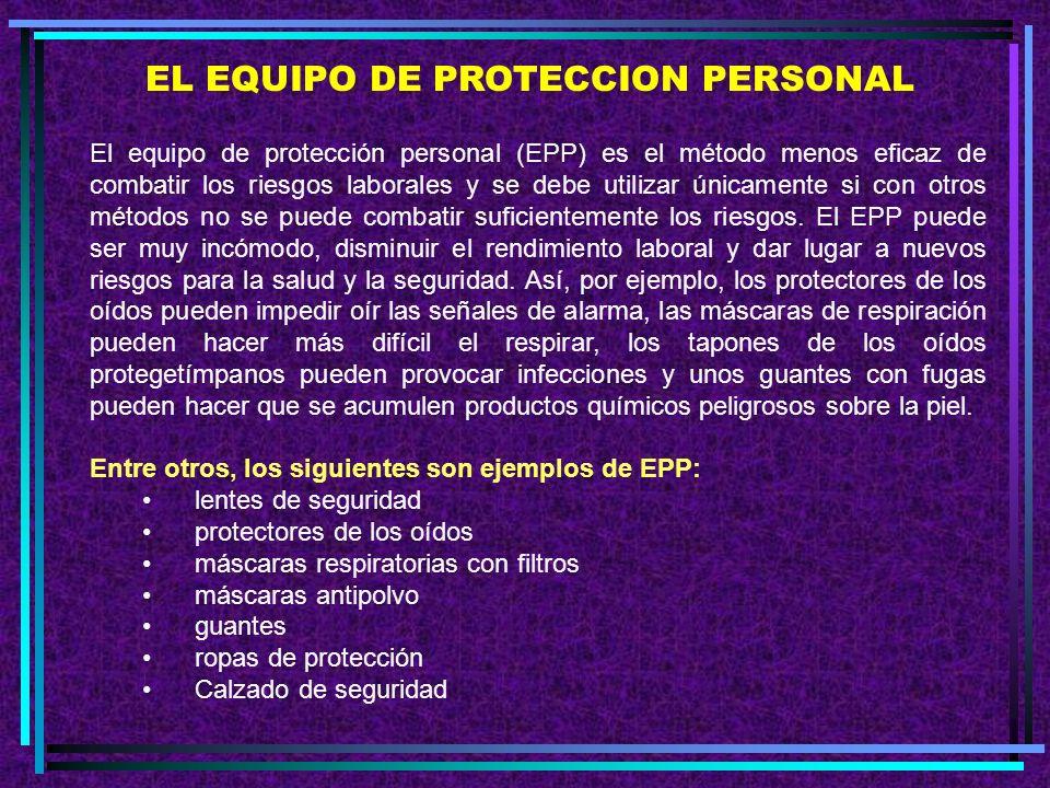 EL EQUIPO DE PROTECCION PERSONAL