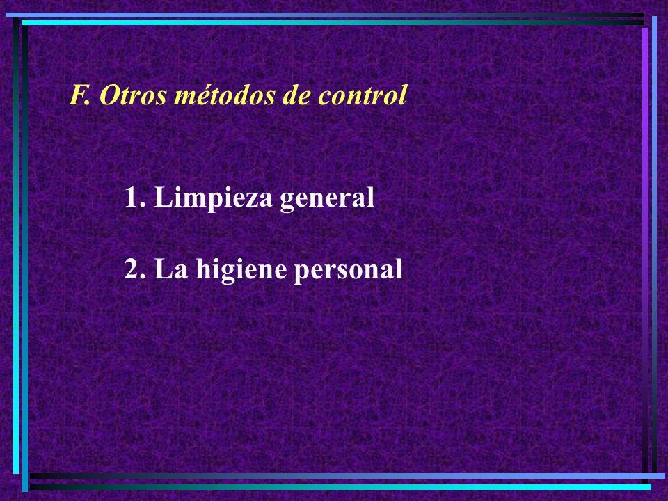 F. Otros métodos de control