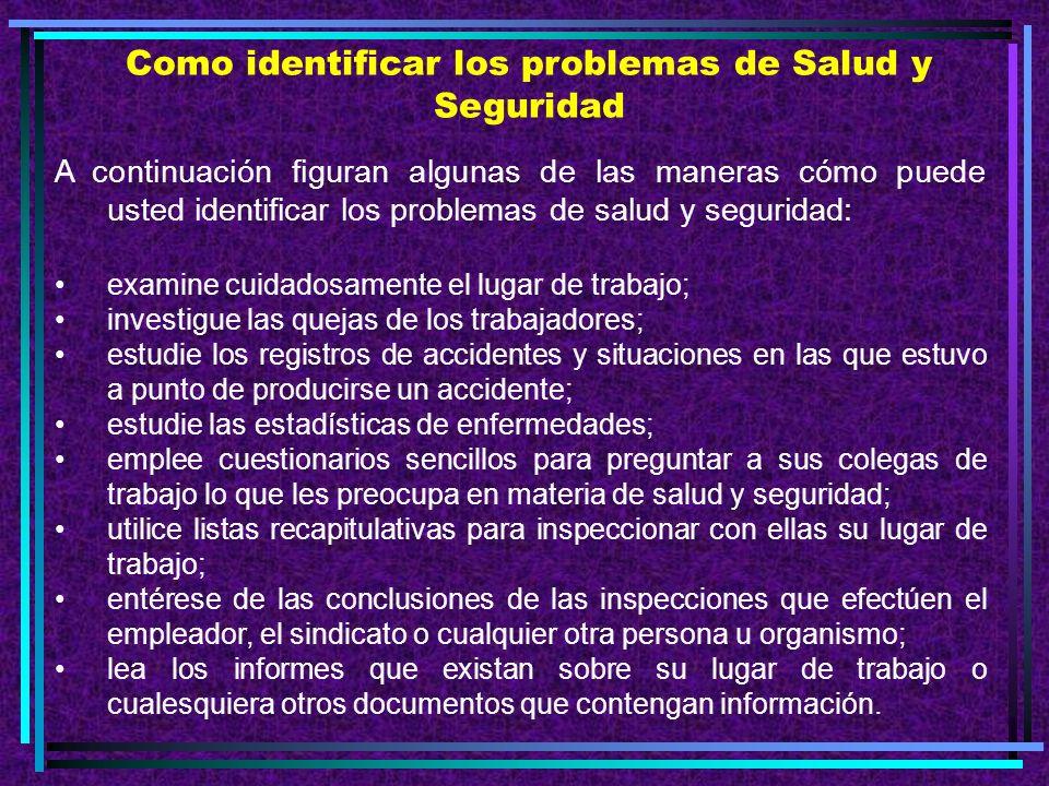 Como identificar los problemas de Salud y Seguridad