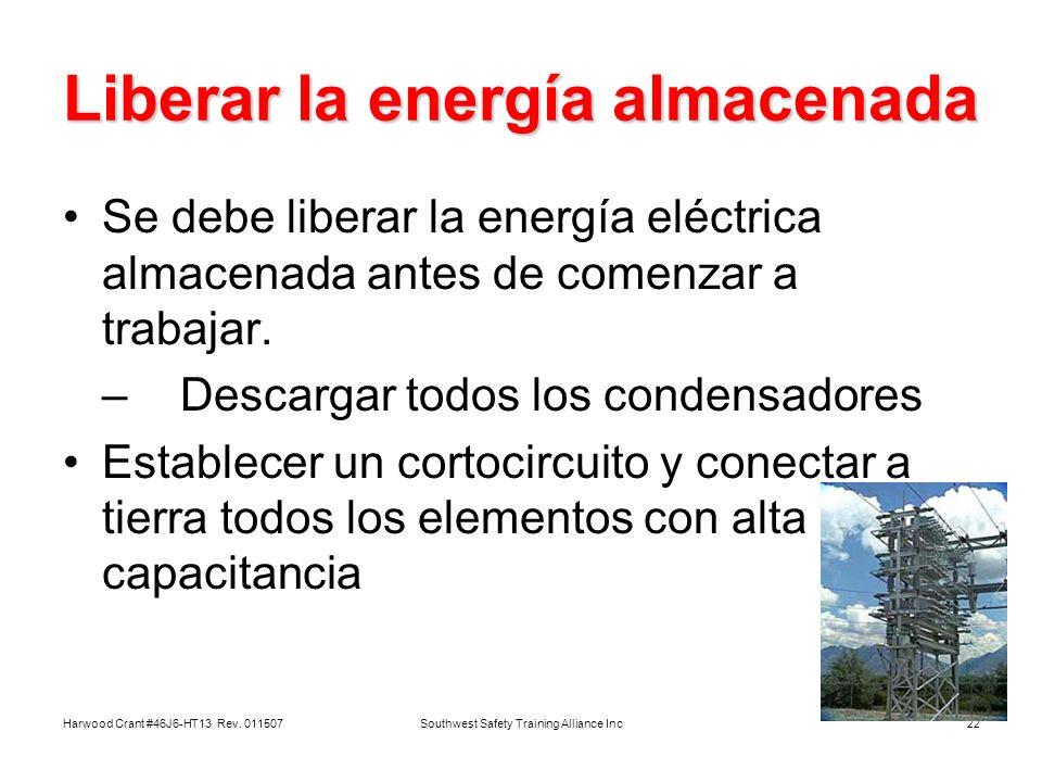 Liberar la energía almacenada