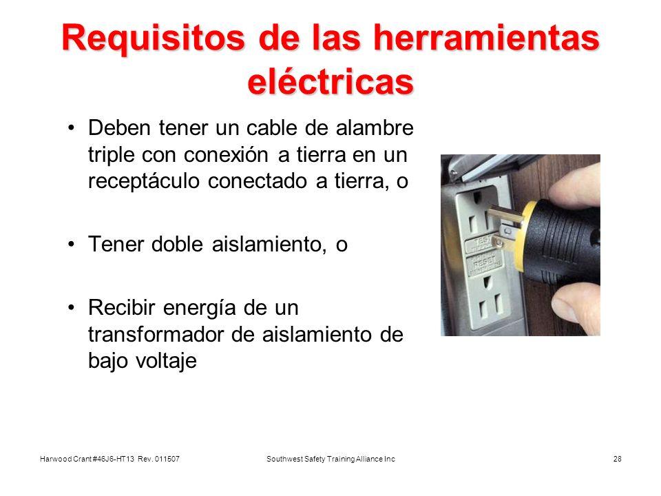 Requisitos de las herramientas eléctricas