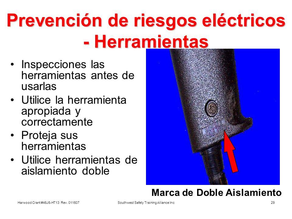 Prevención de riesgos eléctricos - Herramientas
