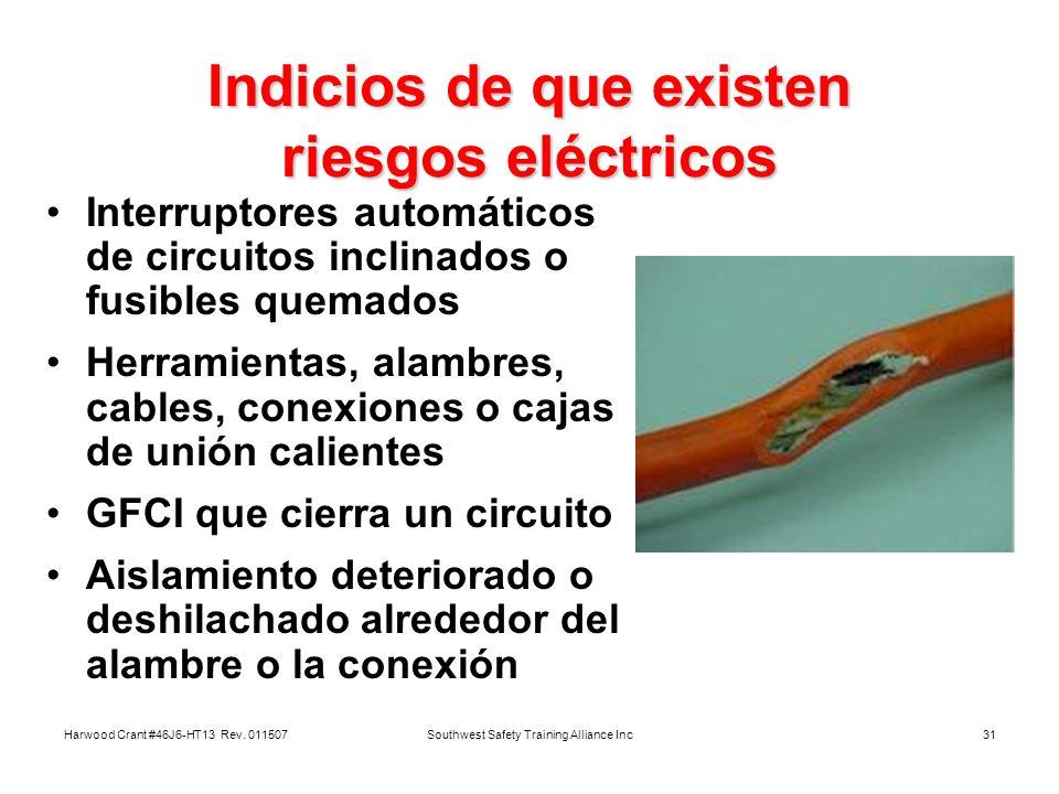 Indicios de que existen riesgos eléctricos