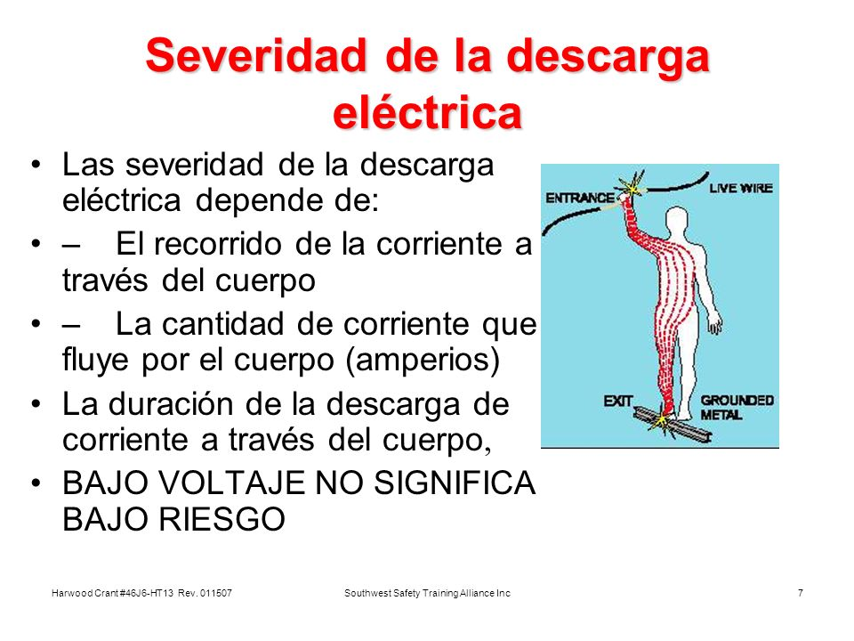 Severidad de la descarga eléctrica