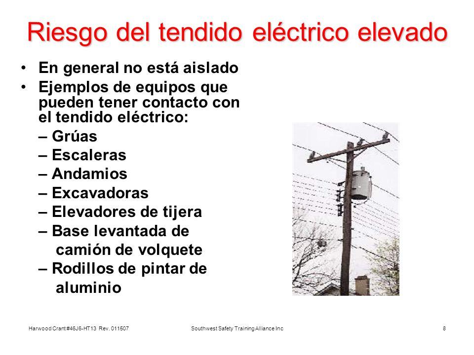 Riesgo del tendido eléctrico elevado