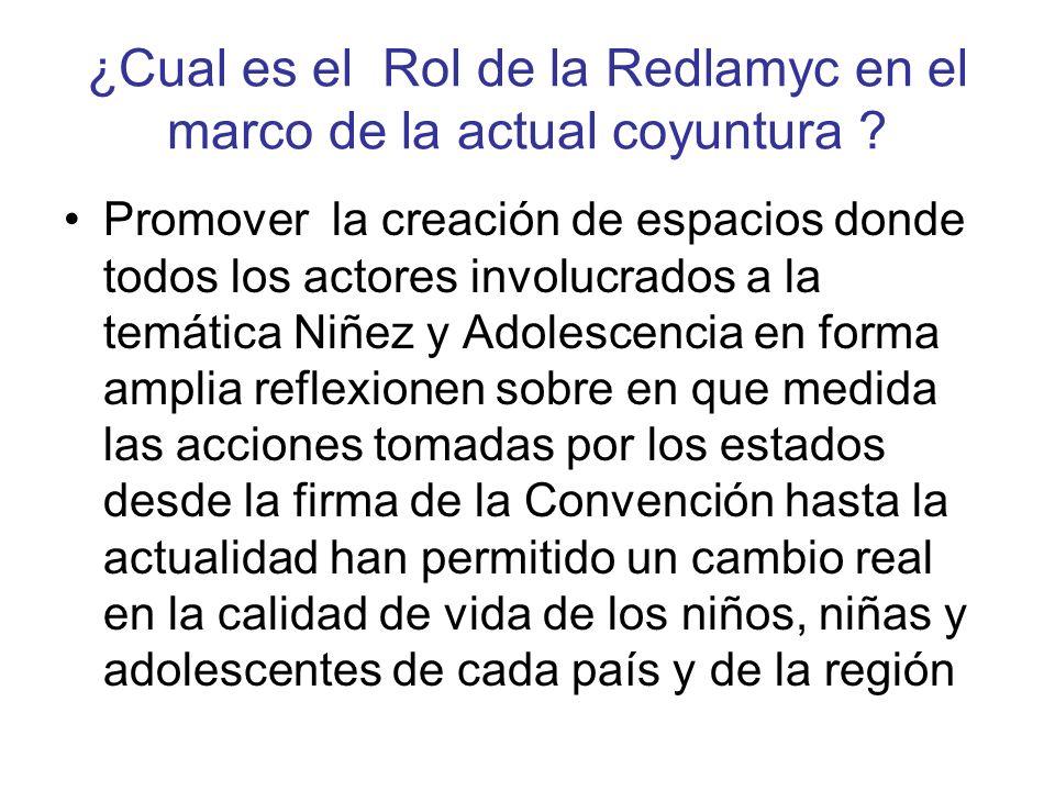 ¿Cual es el Rol de la Redlamyc en el marco de la actual coyuntura