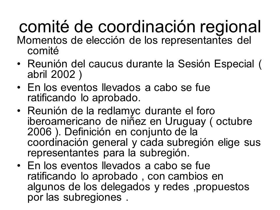 comité de coordinación regional