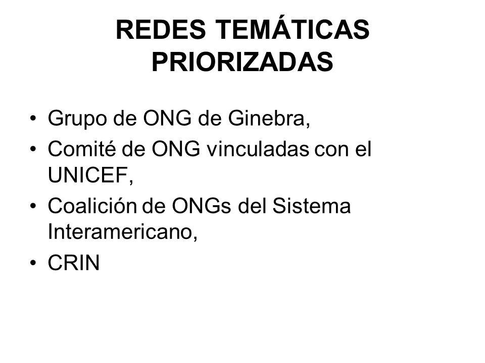 REDES TEMÁTICAS PRIORIZADAS