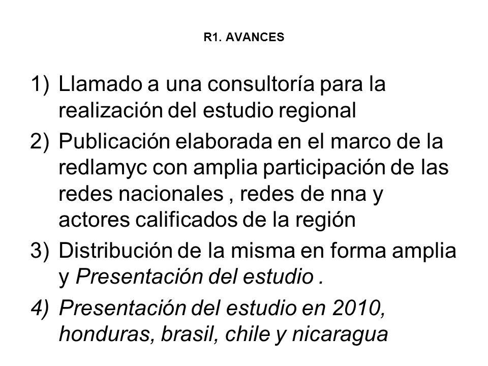 Llamado a una consultoría para la realización del estudio regional