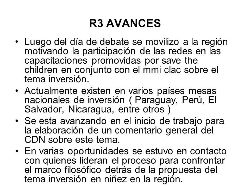 R3 AVANCES