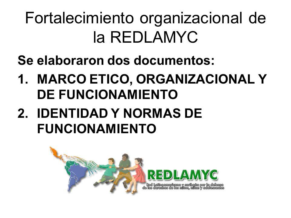 Fortalecimiento organizacional de la REDLAMYC