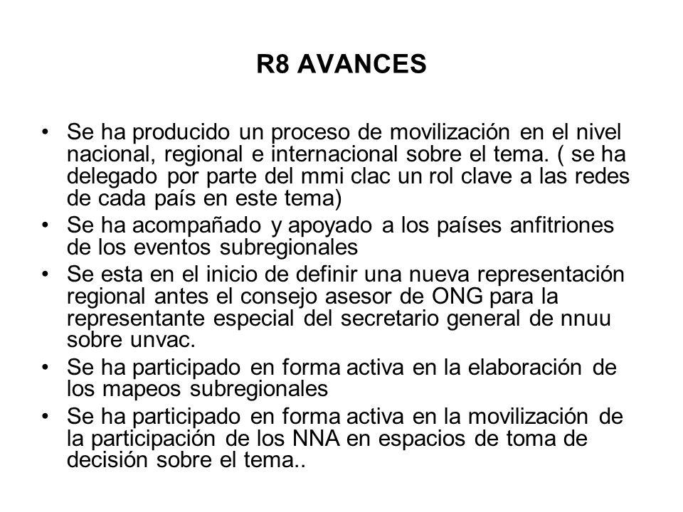 R8 AVANCES