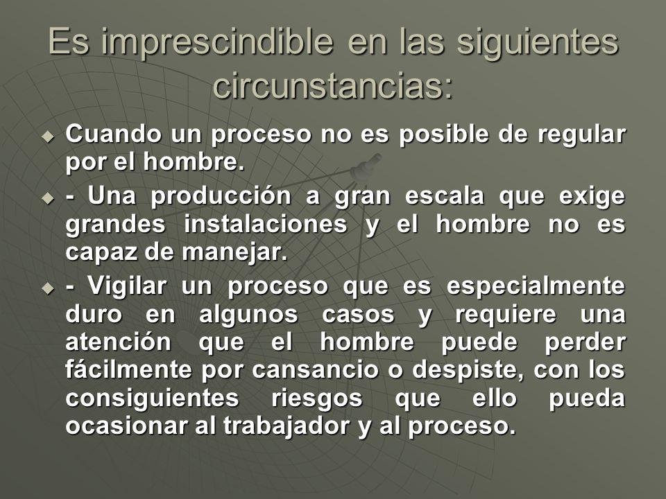 Es imprescindible en las siguientes circunstancias: