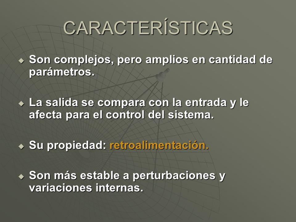 CARACTERÍSTICAS Son complejos, pero amplios en cantidad de parámetros.
