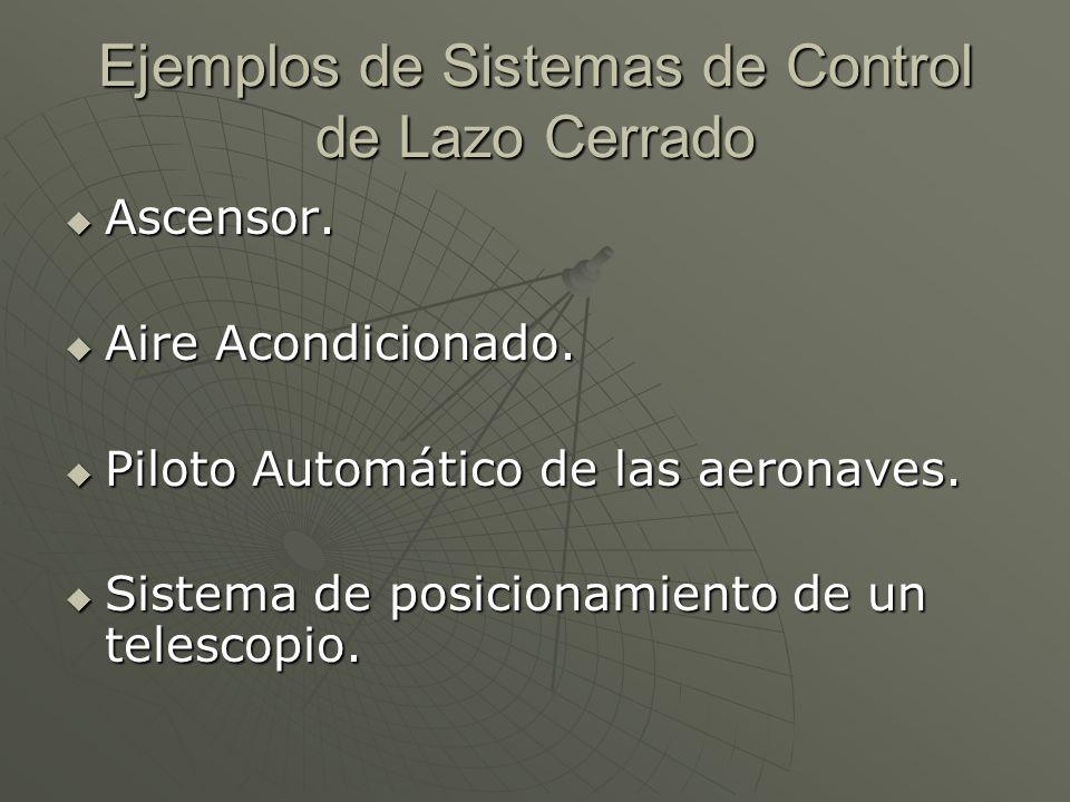 Ejemplos de Sistemas de Control de Lazo Cerrado