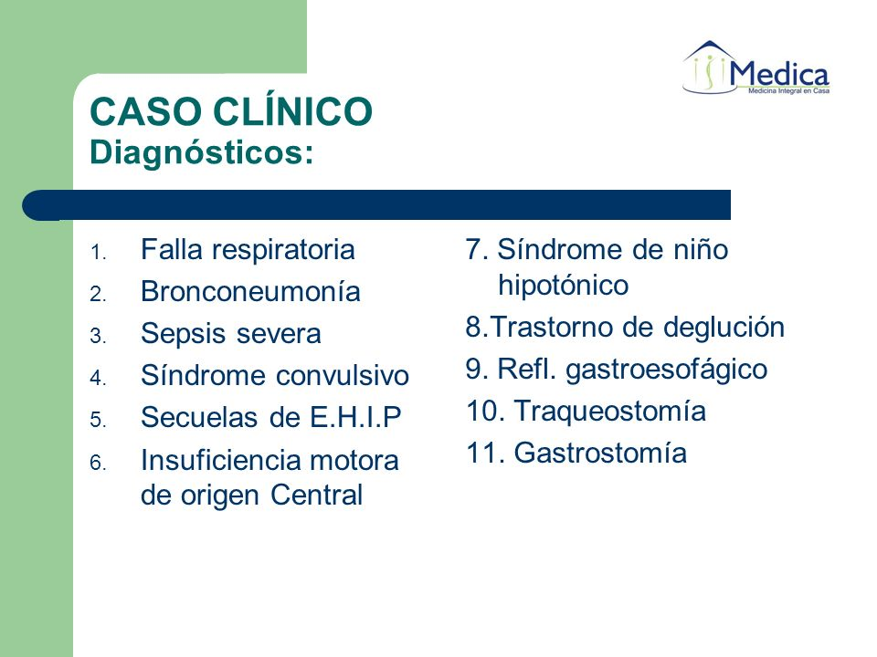 CASO CLÍNICO Diagnósticos: