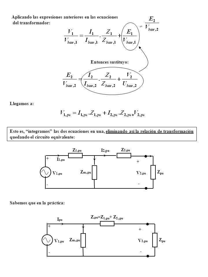 Aplicando las expresiones anteriores en las ecuaciones