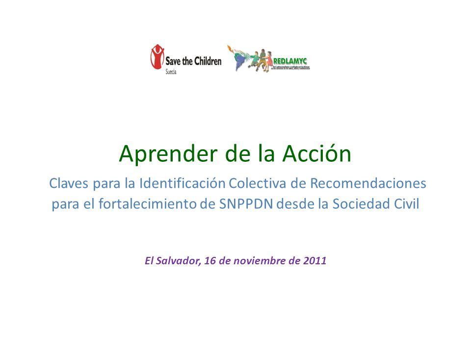 El Salvador, 16 de noviembre de 2011