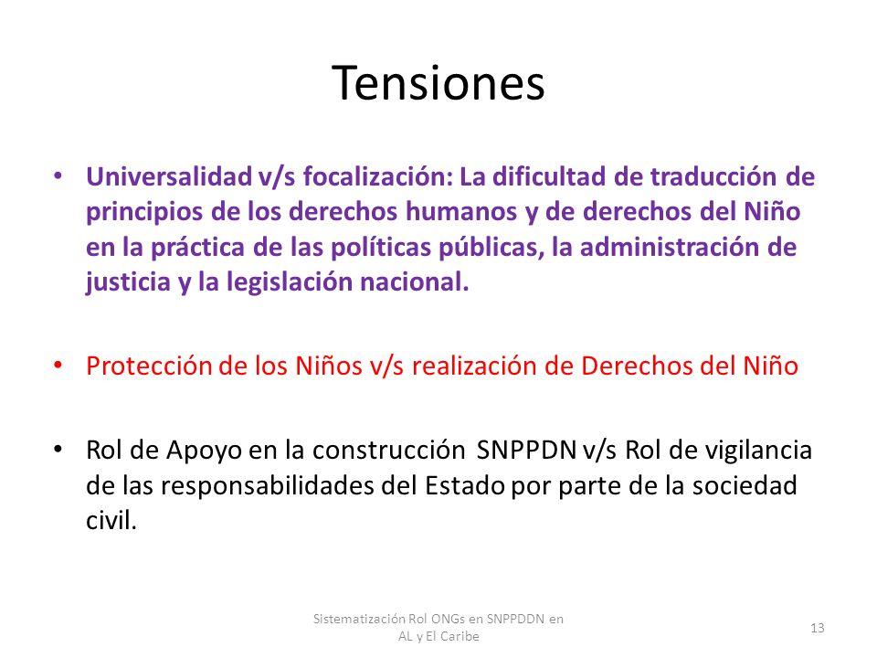 Sistematización Rol ONGs en SNPPDDN en AL y El Caribe
