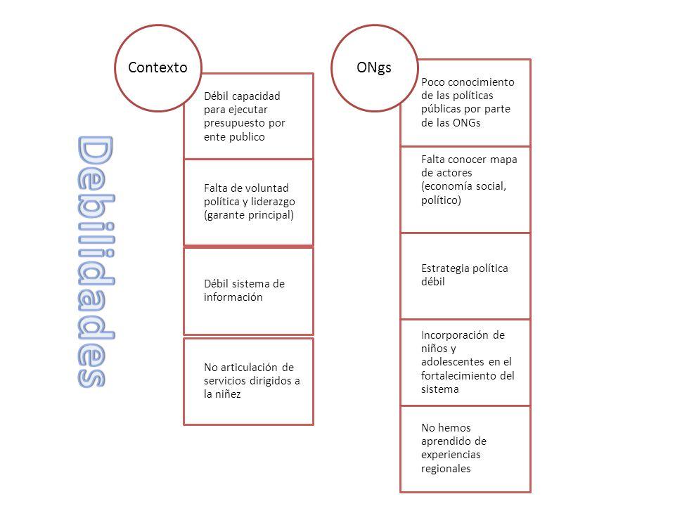 Debilidades Contexto ONgs