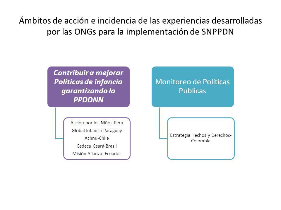 Contribuir a mejorar Políticas de infancia garantizando la PPDDNN