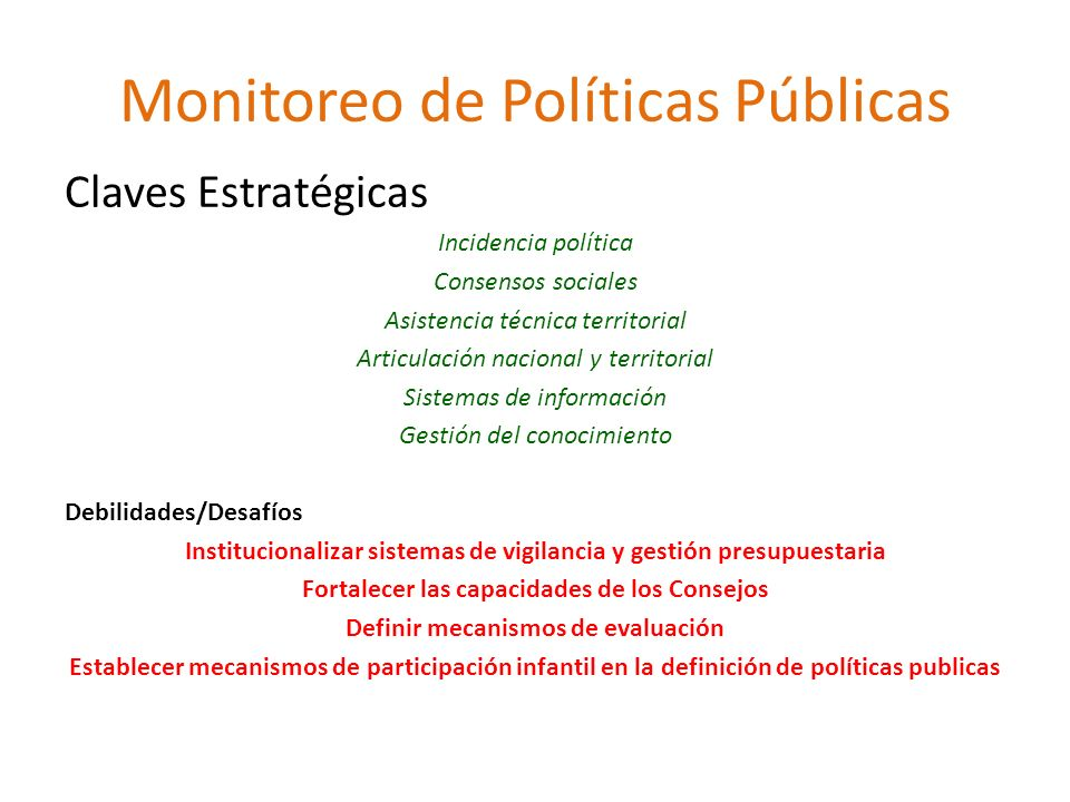 Monitoreo de Políticas Públicas