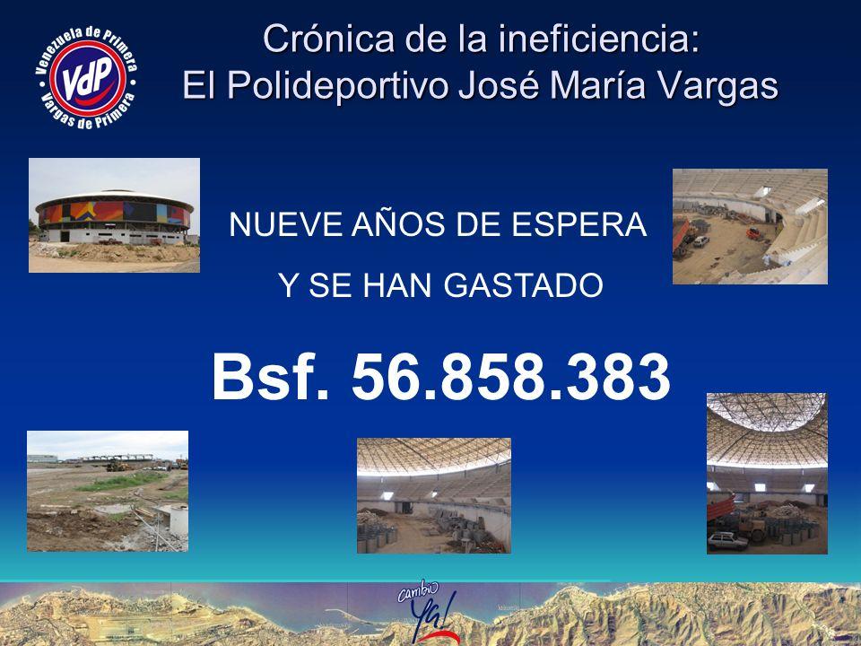 Crónica de la ineficiencia: El Polideportivo José María Vargas