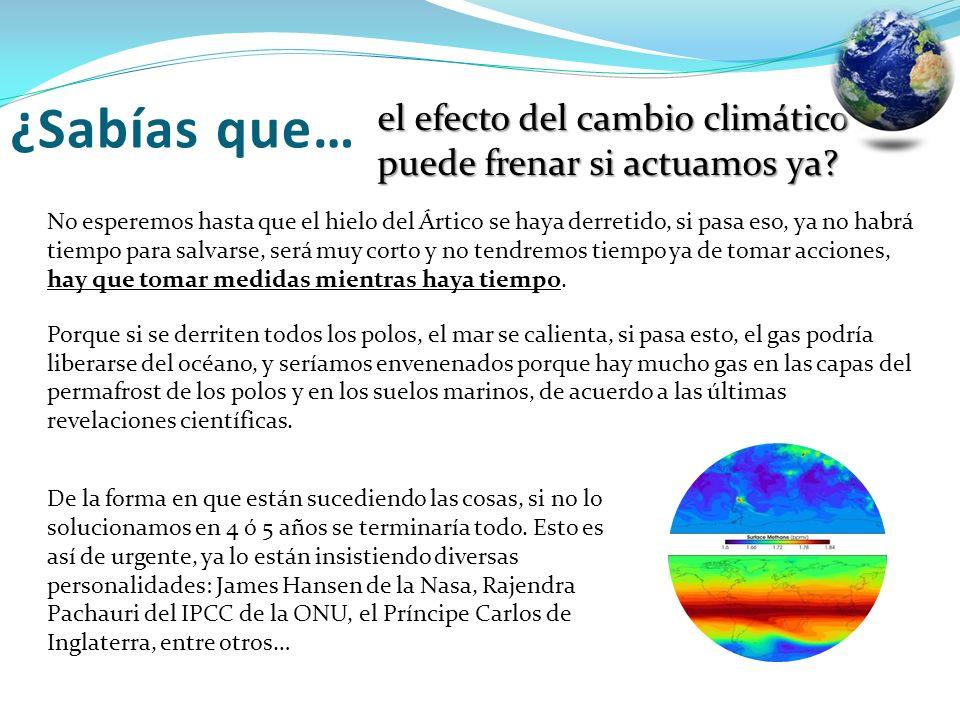 ¿Sabías que… el efecto del cambio climático se puede frenar si actuamos ya