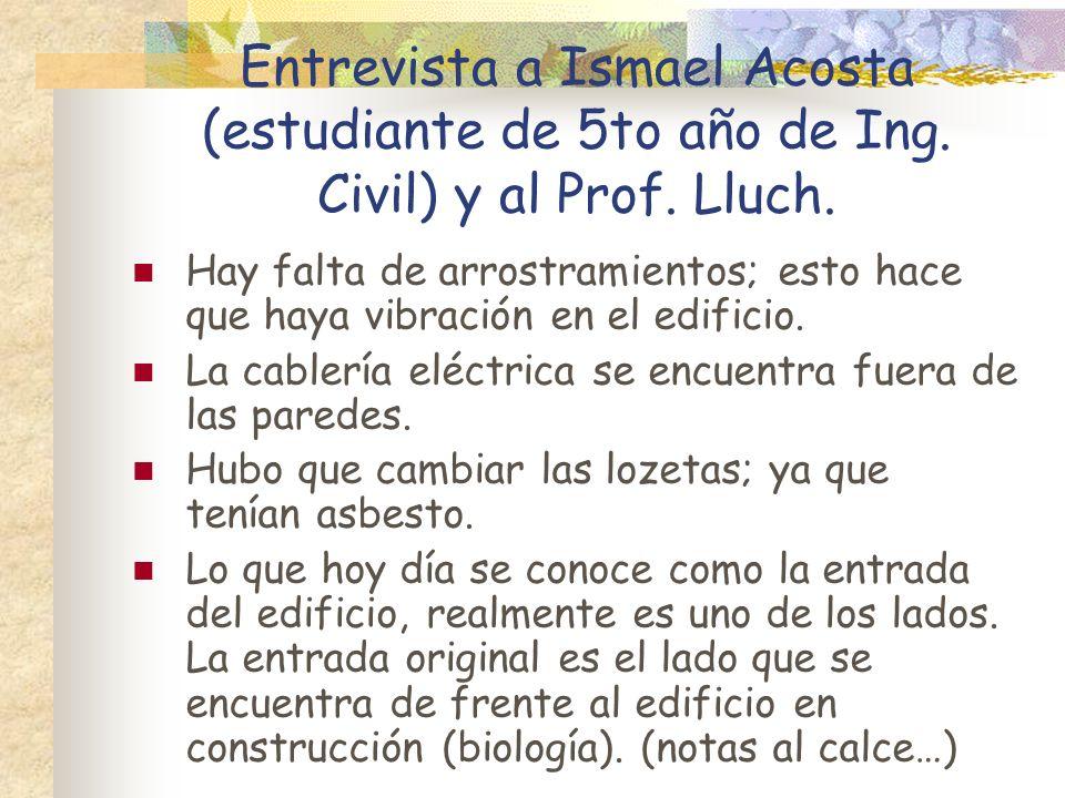 Entrevista a Ismael Acosta (estudiante de 5to año de Ing