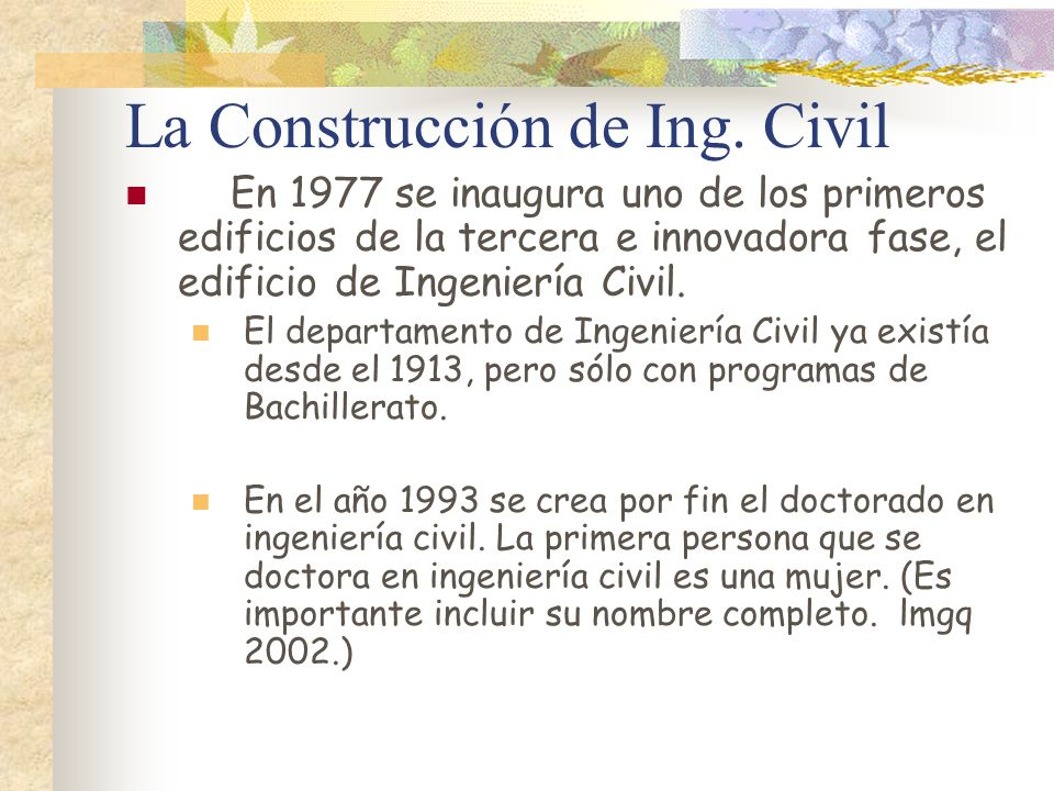 La Construcción de Ing. Civil