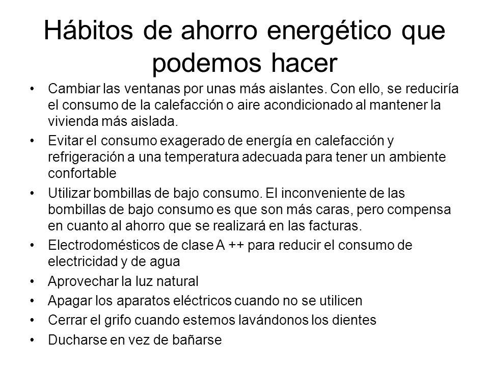 Hábitos de ahorro energético que podemos hacer