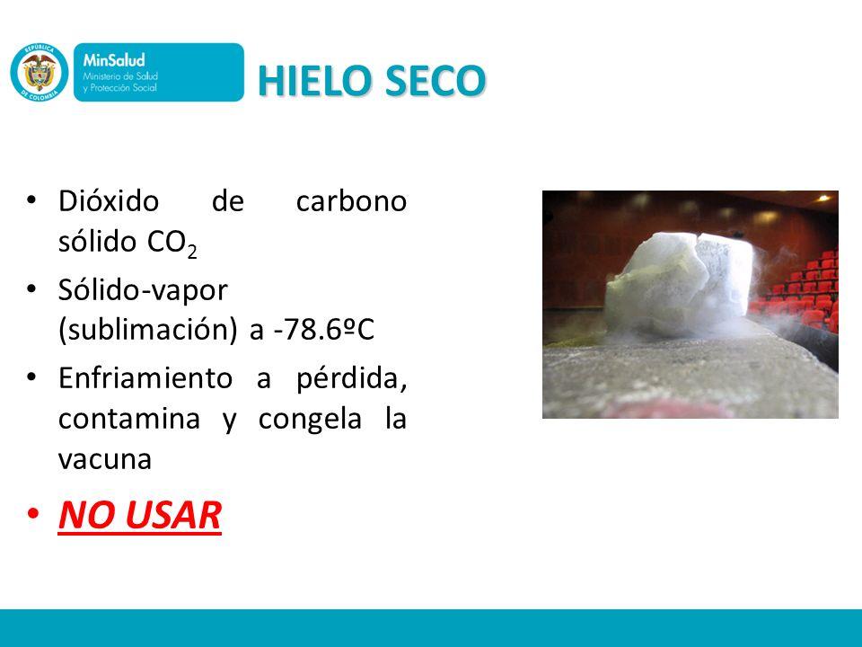 HIELO SECO NO USAR Dióxido de carbono sólido CO2