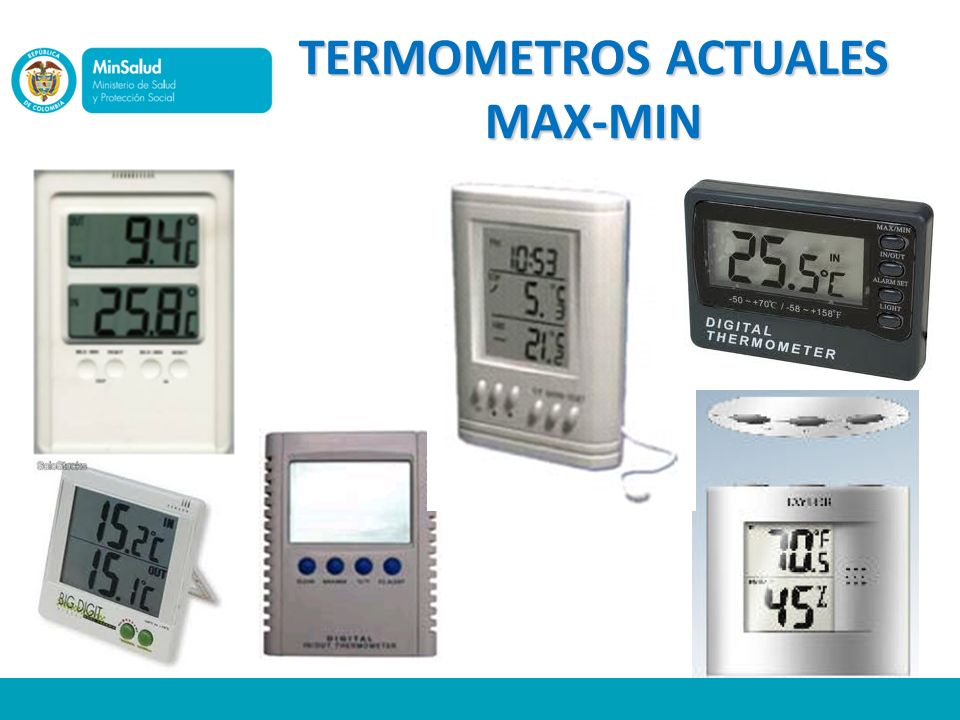 TERMOMETROS ACTUALES MAX-MIN