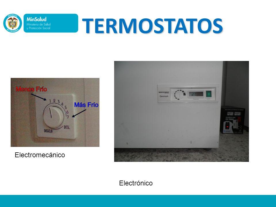 TERMOSTATOS Electromecánico Electrónico