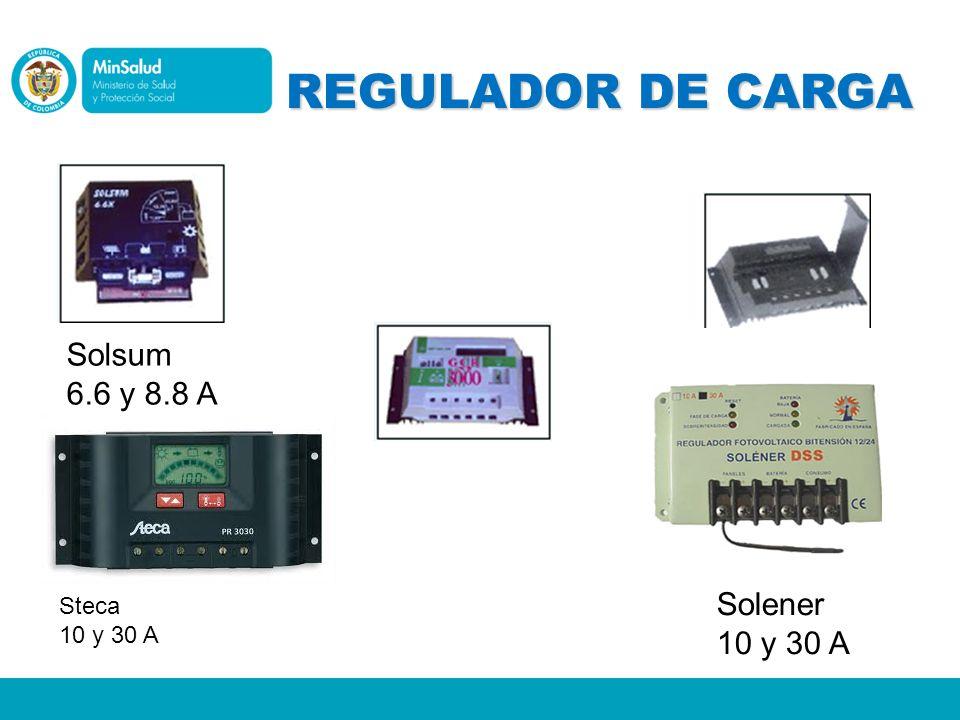REGULADOR DE CARGA Solsum 6.6 y 8.8 A Solener 10 y 30 A Steca