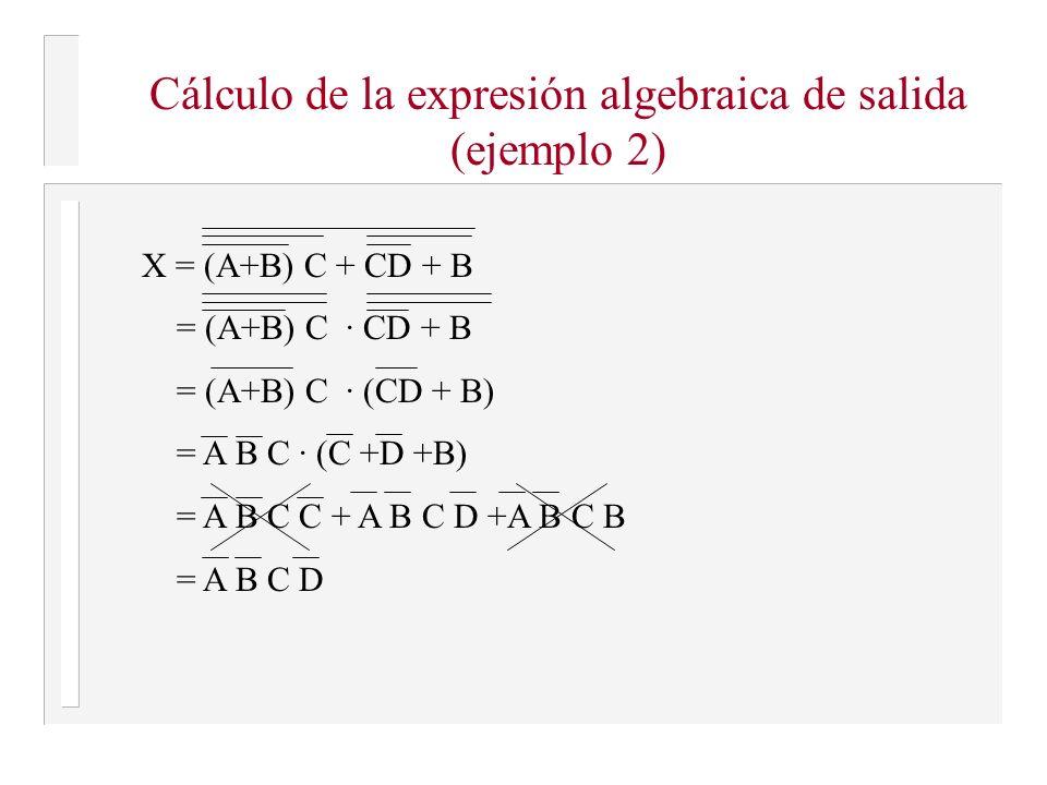 Cálculo de la expresión algebraica de salida (ejemplo 2)