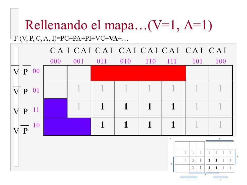Rellenando el mapa…(V=1, A=1)