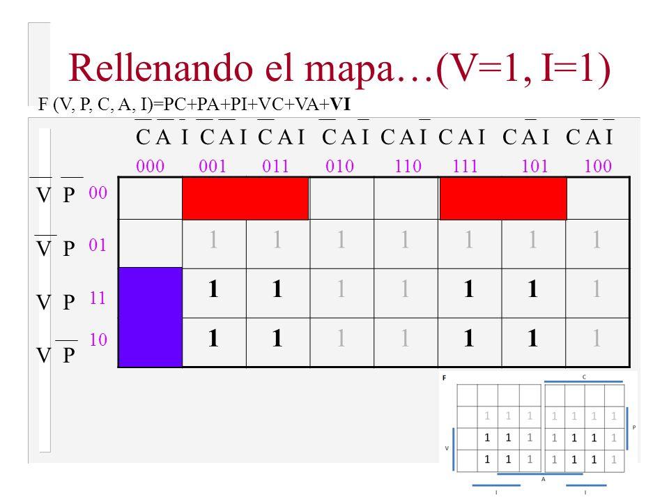 Rellenando el mapa…(V=1, I=1)