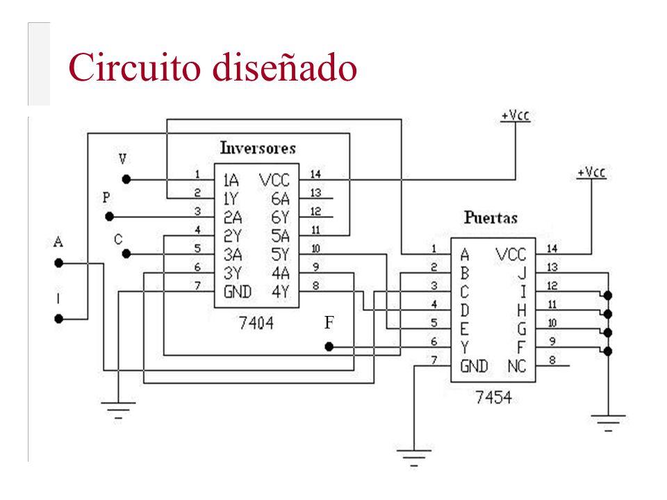 Circuito diseñado F