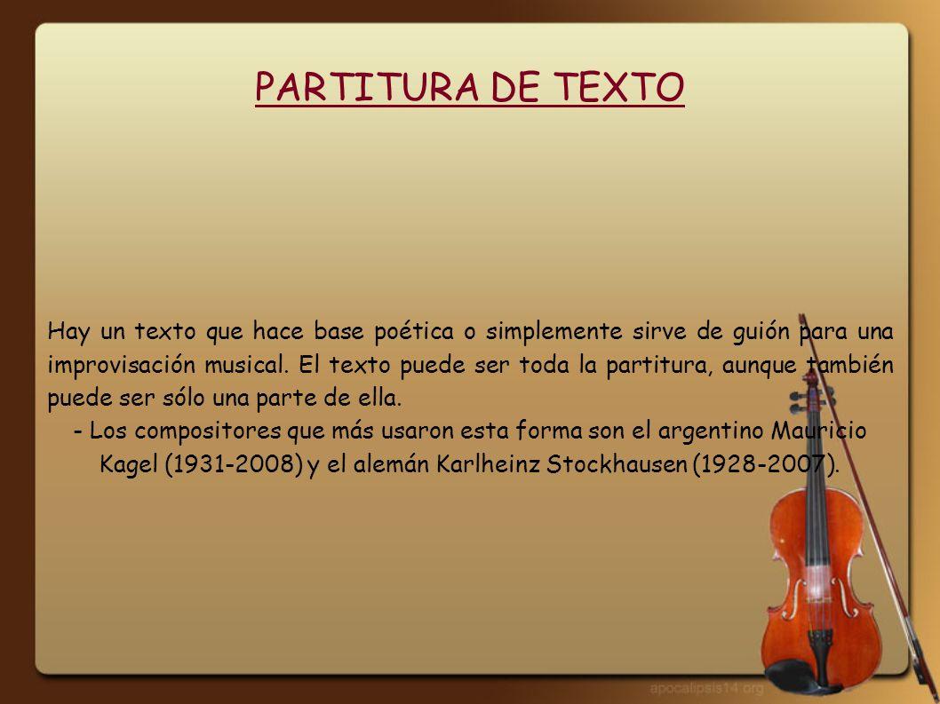 PARTITURA DE TEXTO