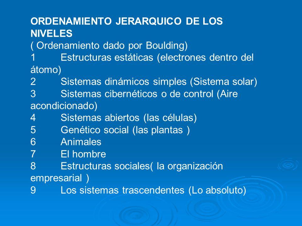 ORDENAMIENTO JERARQUICO DE LOS NIVELES