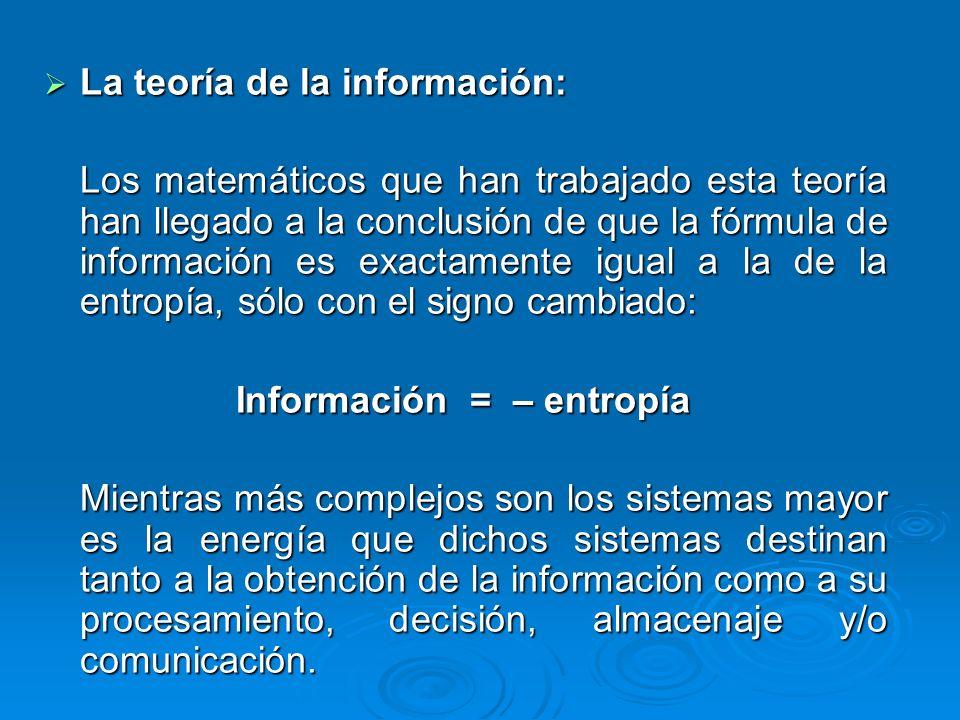 La teoría de la información: