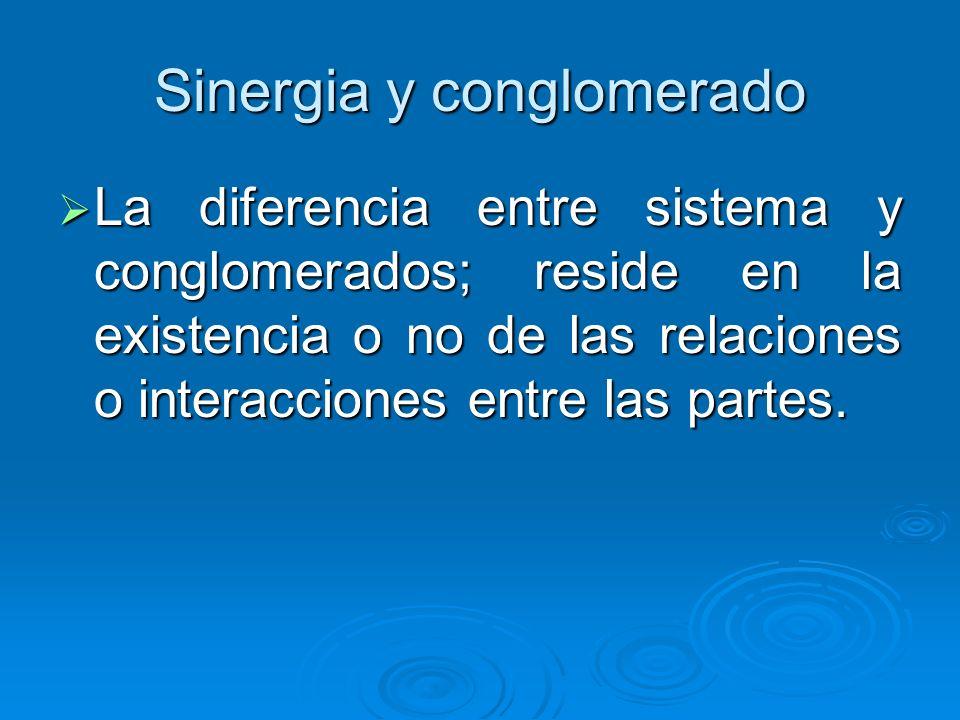Sinergia y conglomerado