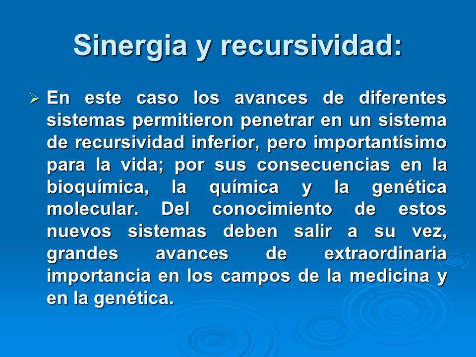 Sinergia y recursividad: