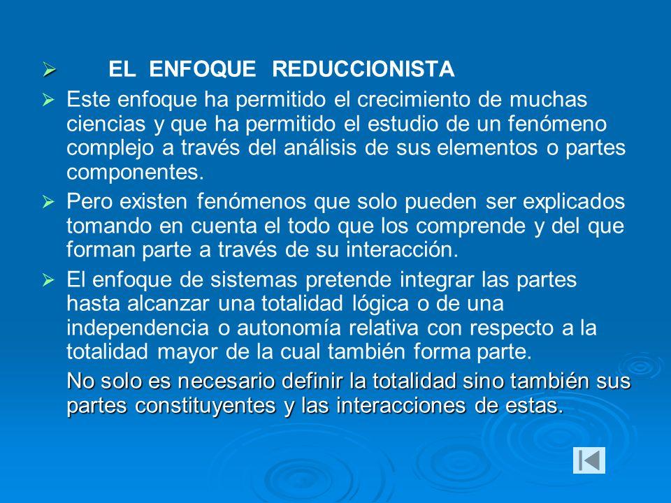 EL ENFOQUE REDUCCIONISTA