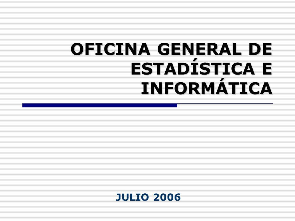 OFICINA GENERAL DE ESTADÍSTICA E INFORMÁTICA