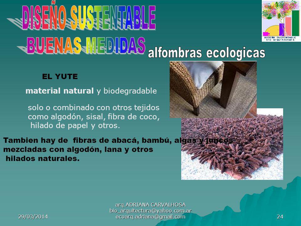 DISEÑO SUSTENTABLE BUENAS MEDIDAS alfombras ecologicas EL YUTE